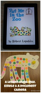 Using the Kindle App to share stories with children.