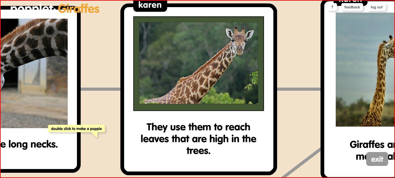 giraffe popplet