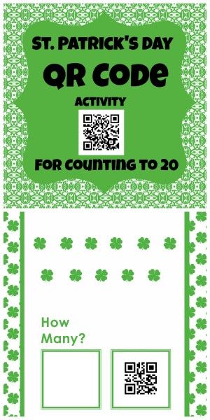 St. Patrick's Day QR codes for counting