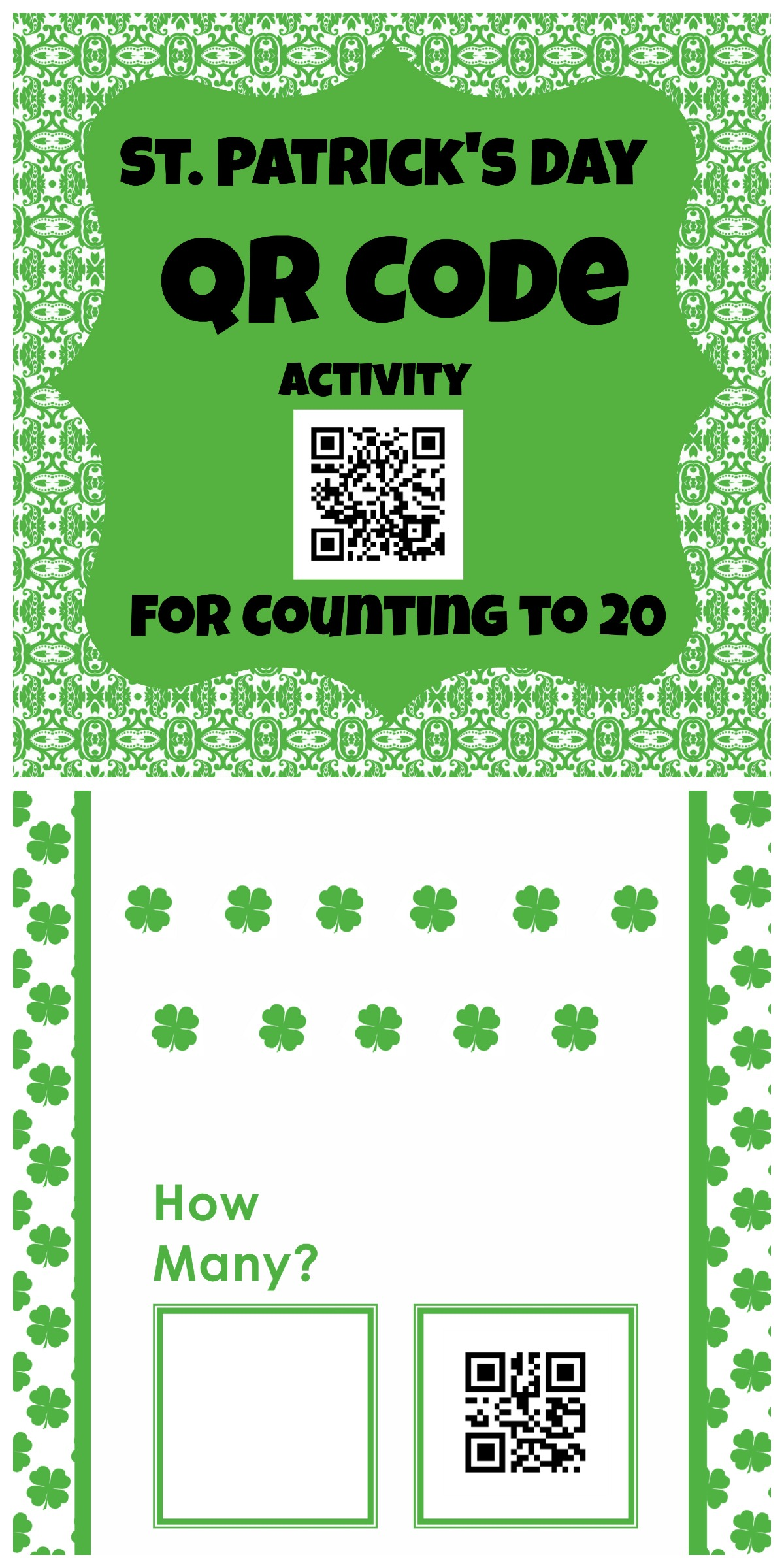 St. Patrick's Day QR codes