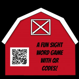 A Fun Sight Word Game with QR Codes