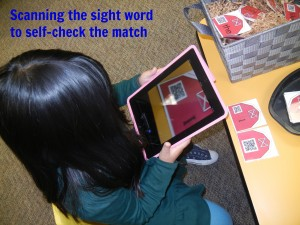 scanning the sight word to self-check the match.jpg