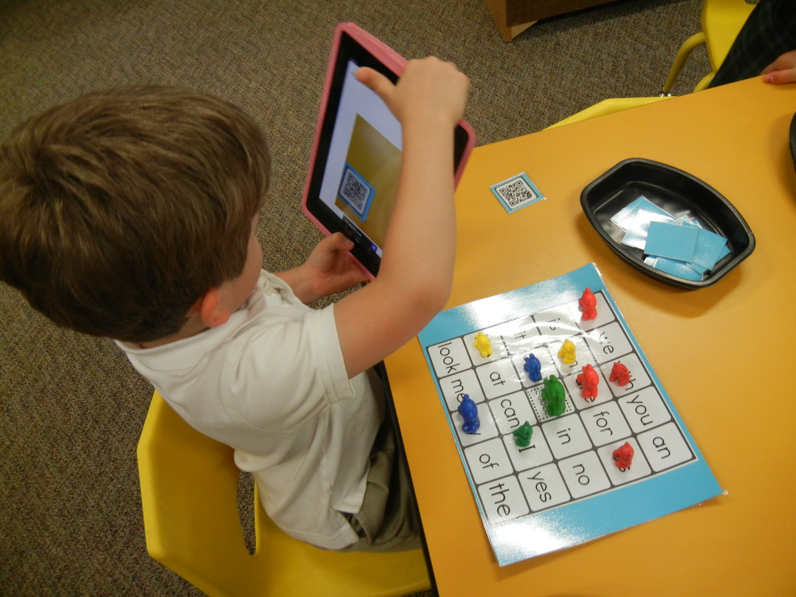 Audio QR Codes: Sight Word Bingo