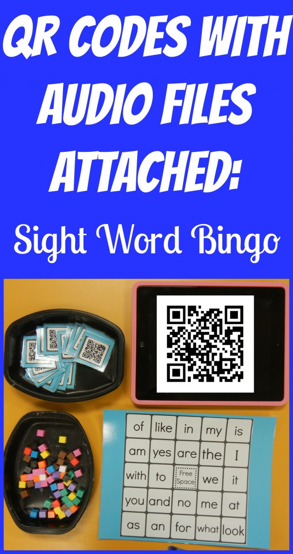QR Codes with Audio Files Bingo
