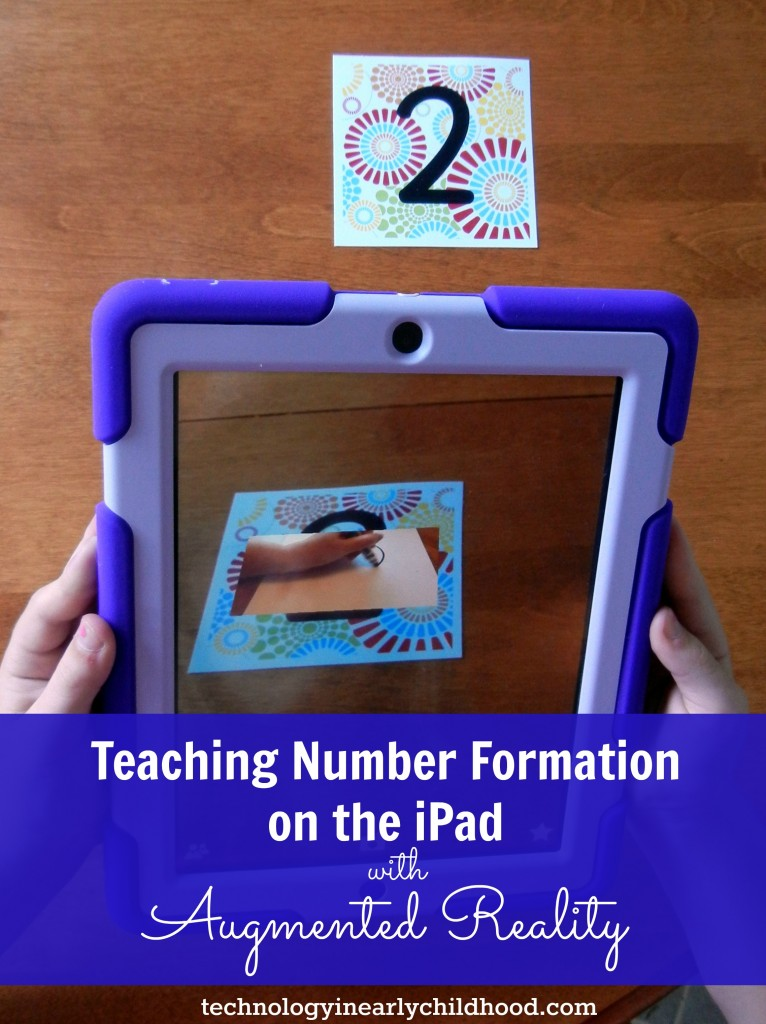 Teaching number formation on the ipad with augmented reality