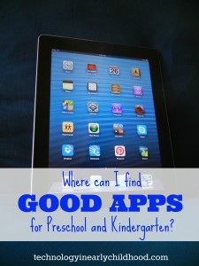Where can I find good apps for preschool and kindergarten?