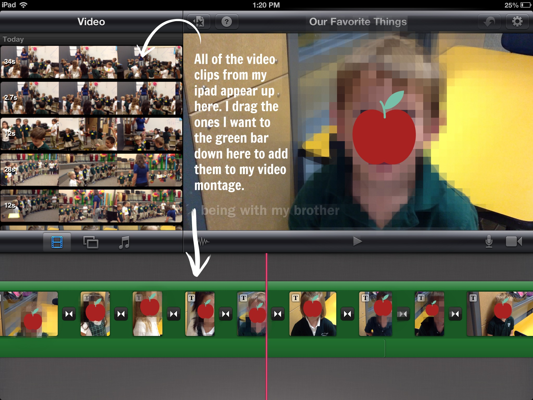 Make an iMovie Video on your iPad for Back to School