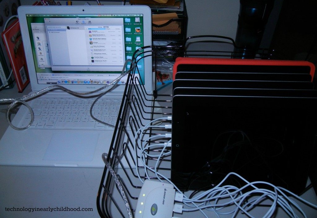 dish drainer iPad chargingconfigurating center  technologyinearlychildhood.com