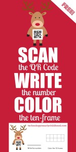 Practicing Numbers 0-9 with Holiday QR Codes