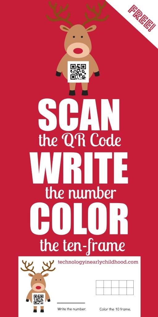 Reindeer QR Codes Numbers 0-9