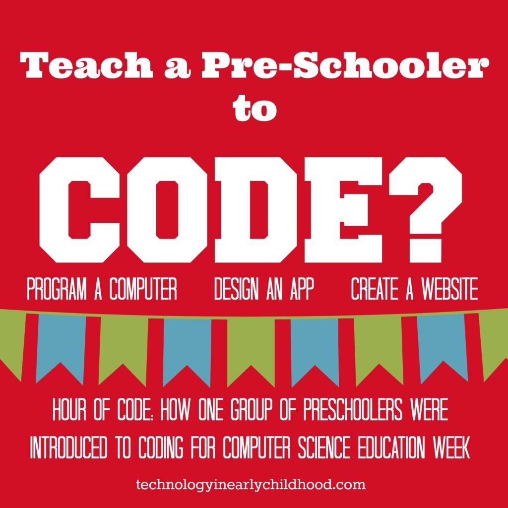 Teach a Preschooler to code