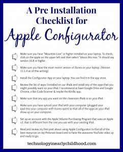 Pre Installation Checklist for Apple Configurator