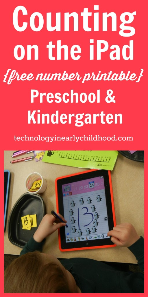 Counting on the iPad Preschool and Kindergarten