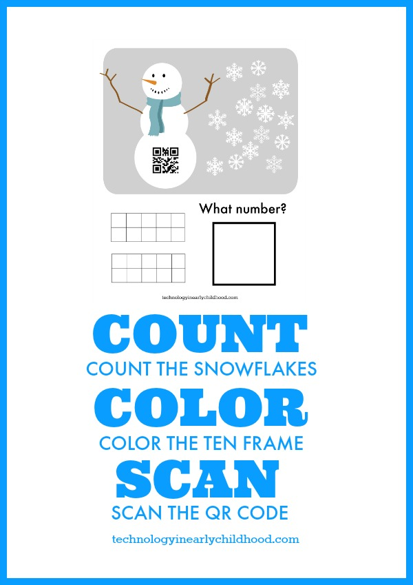 QR Code Counting Teens