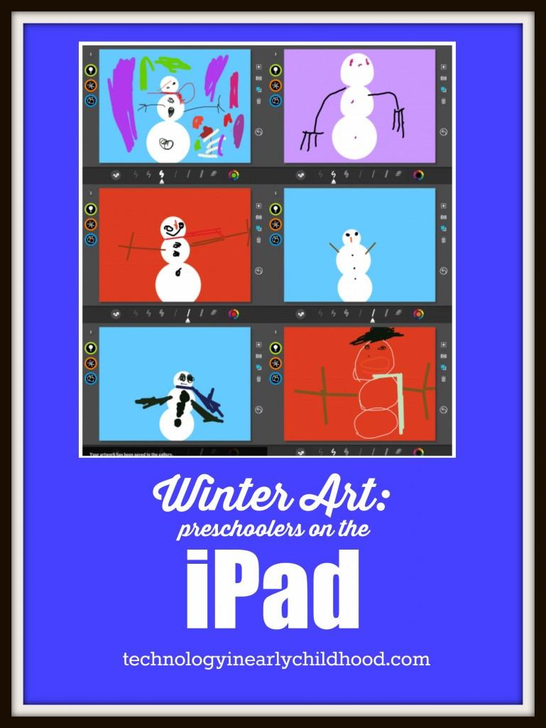 Winter Art On The iPad